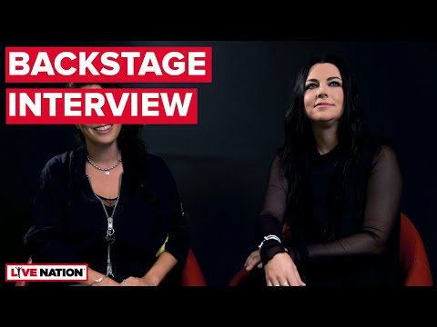 Evanescence & Within Temptation (Amy Lee & Sharon Den Adel) - Backstage Interview