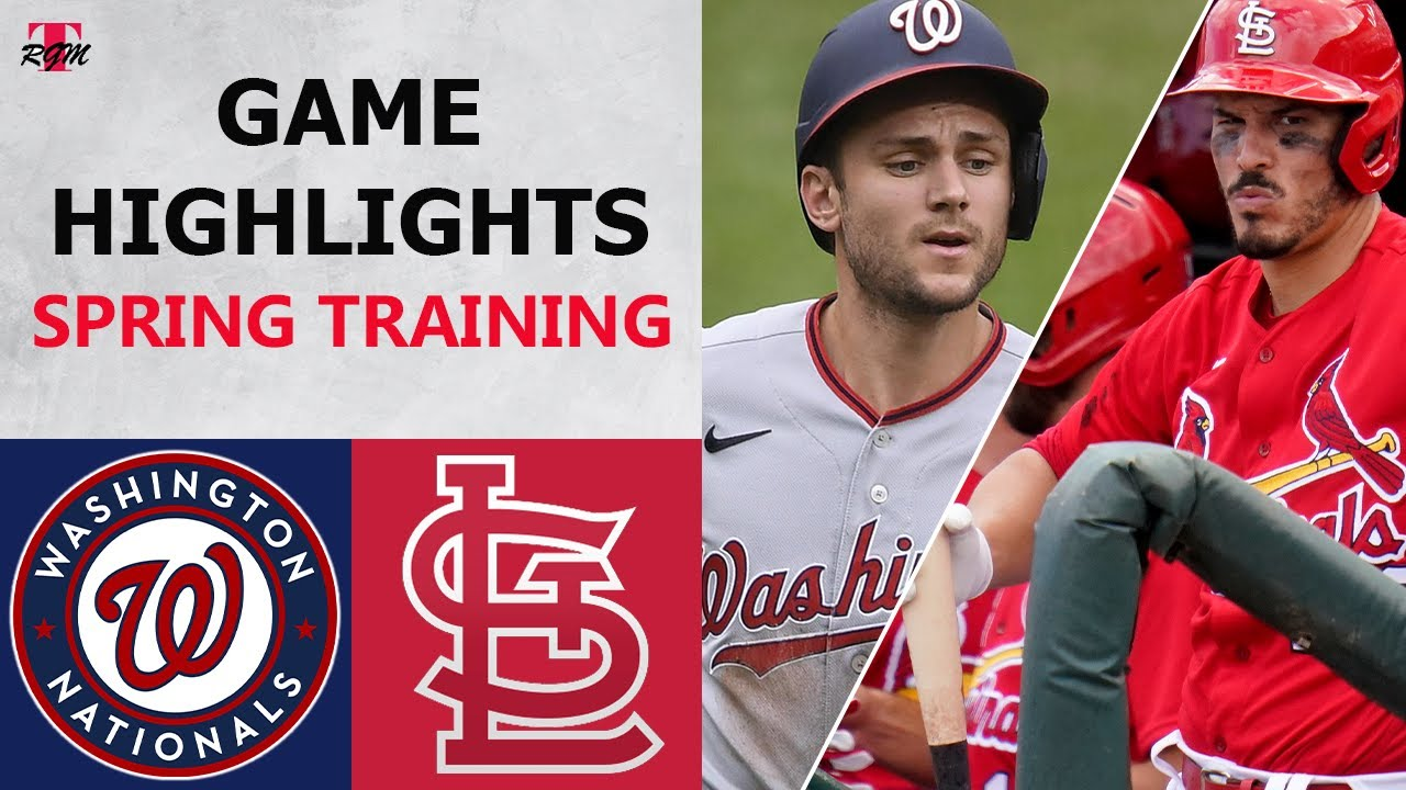 Download Washington Nationals vs. St. Louis Cardinals Highlights   February 28, 2021 (Spring Training)