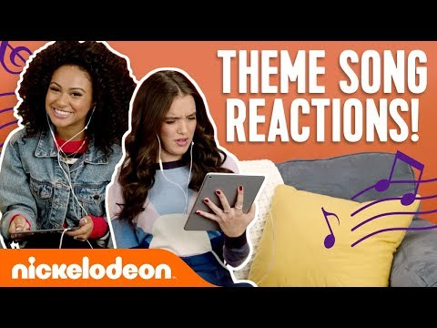 Nick Stars React To Theme Songs 🎵 Ft. JoJo Siwa, Daniella Perkins & More! | #NickStarsIRL