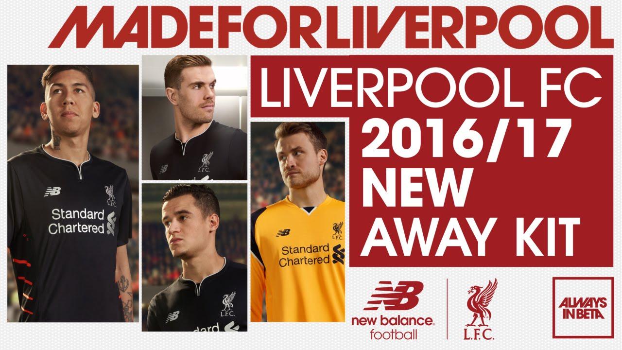 8db8bcb2b30 Revealed  Liverpool FC s 2016-17 away kit - YouTube