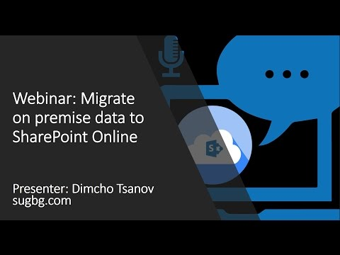 Webinar: Migrate on premise data to SharePoint Online