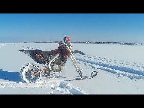 Коварный снег! Эндуро зимой + Лопацикл испытания + комменты и живой звук