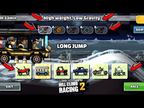 Hill Climb Racing 2 - High Weight, Low Gravity New Team Event