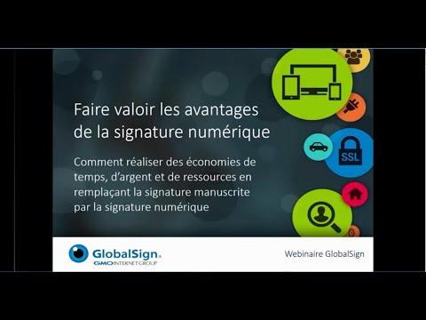 Webinaire GlobalSign sur la signature numérique