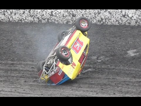 SCARY Mod Lite Rollover at Bakersfield Speedway