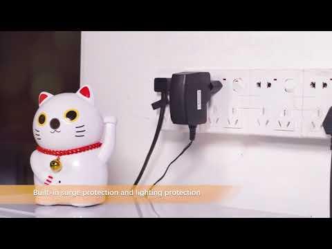 Meisort Cute Fortune Cartoon Cat  Home Security Camera