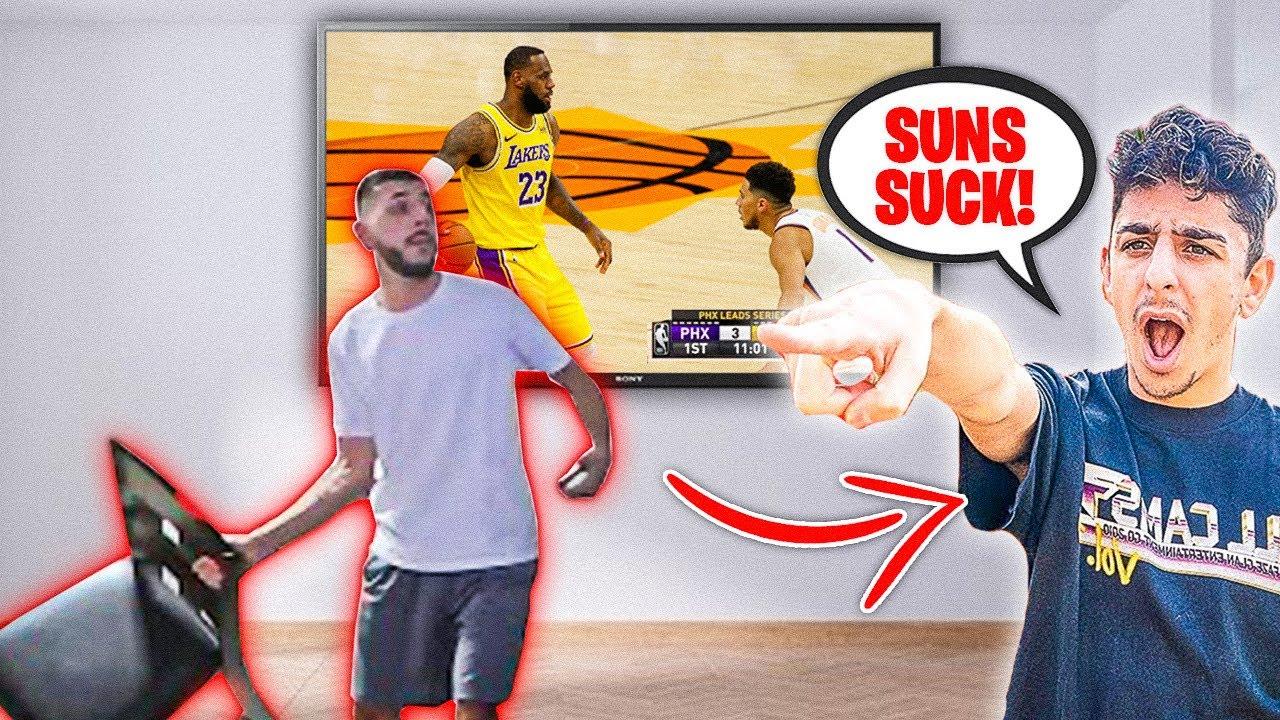 FaZe Rug Mocking Brawadis!! **Suns vs Lakers Game**