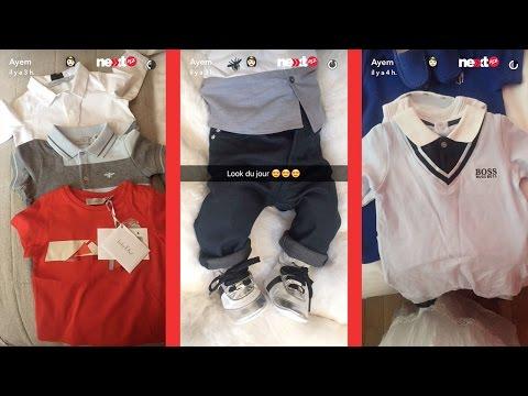 Ayem : la garde-robe de luxe de son bébé ! (snapchat)