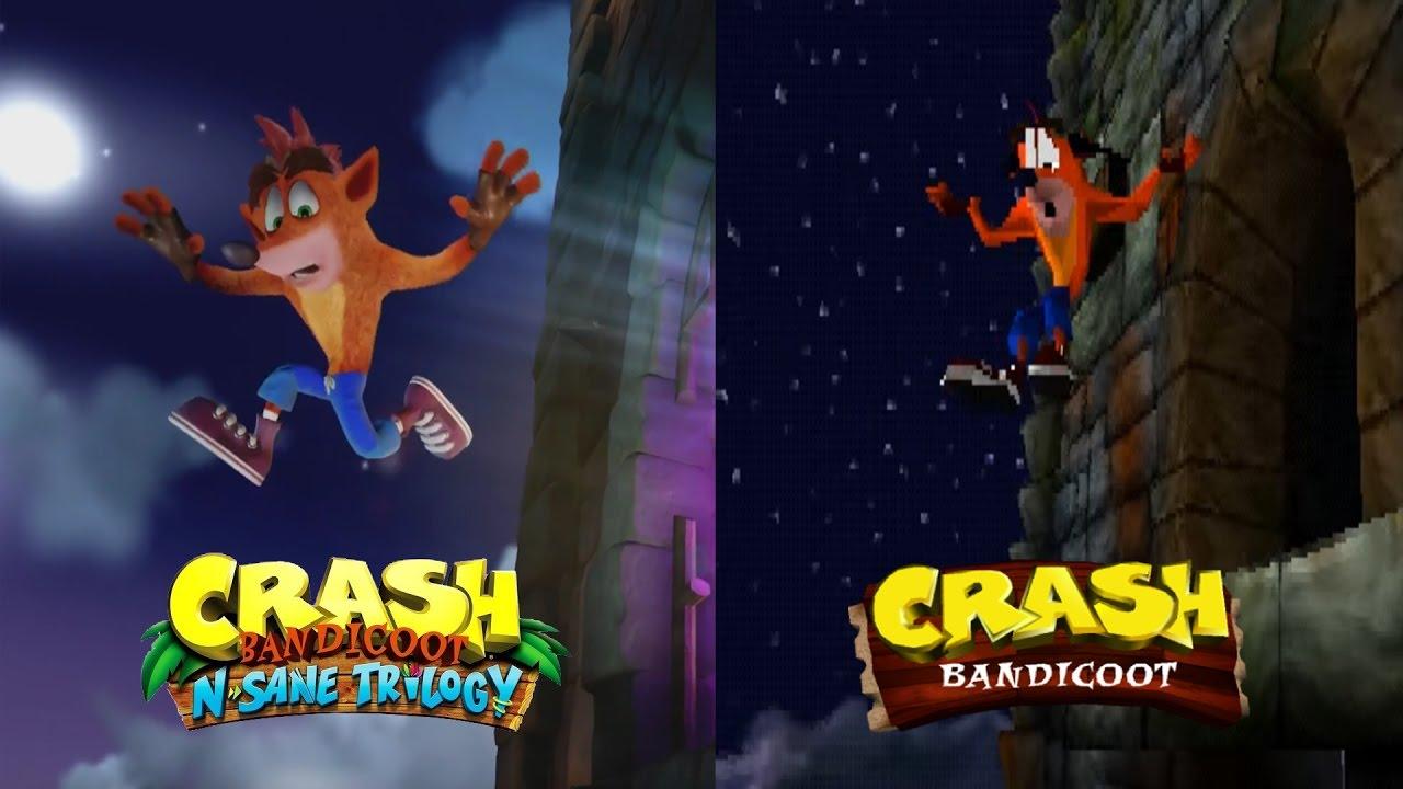 Crash Bandicoot Intro - Remaster Vs. Original Comparison ...