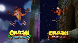 Crash Bandicoot Intro - Remaster Vs. Original Comparison Side by Side