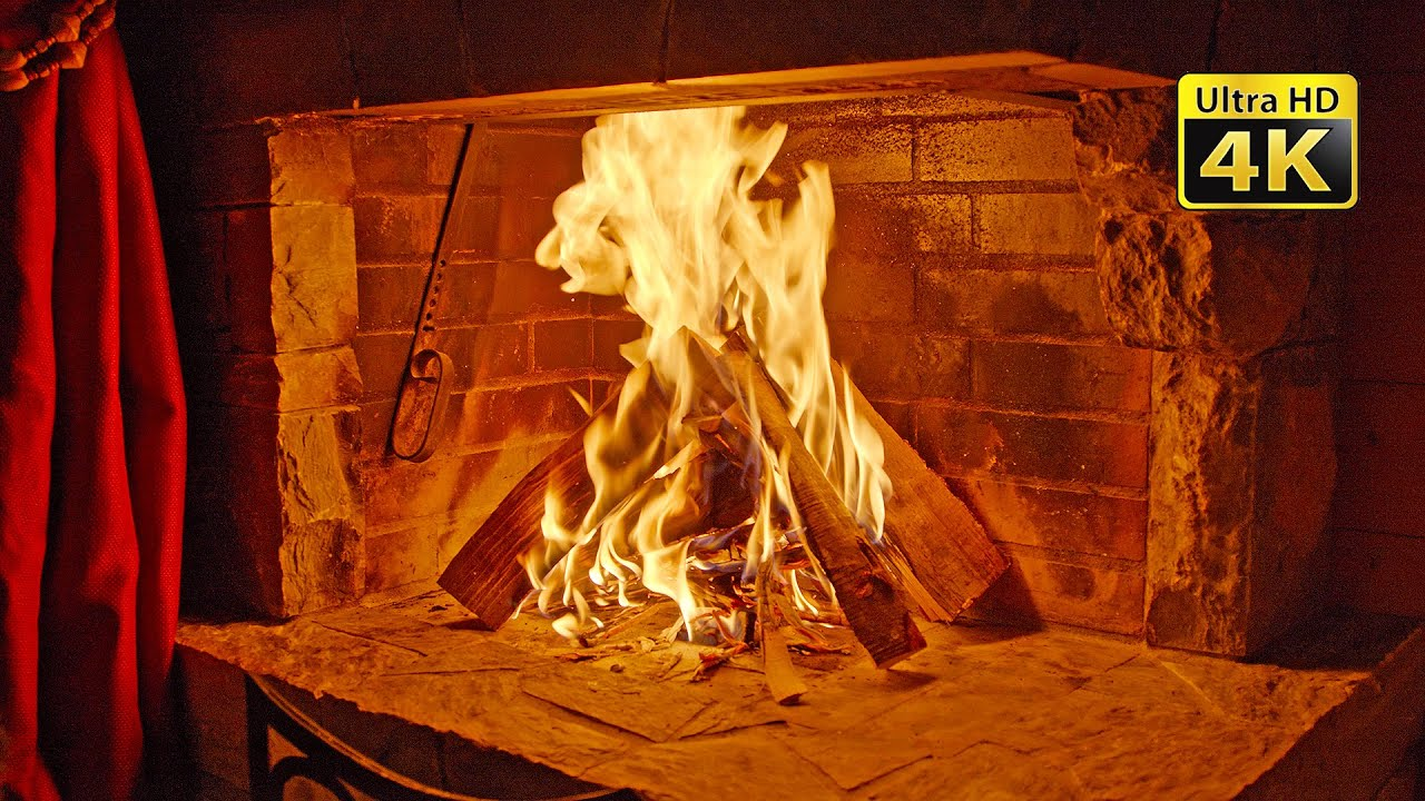 Fireplace Crackling Sounds Recorded With Ambisonics Microphone, Relaxing Ambiance