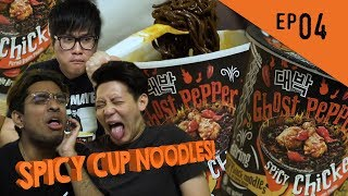 Hot Guys Ep4 - Ghost Pepper Spicy Noodles! Will It Kill You??
