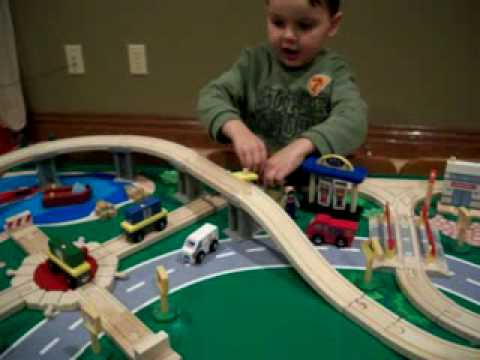 KIDKRAFT WATERFALL MOUNTAIN TRAIN TABLE   YouTube