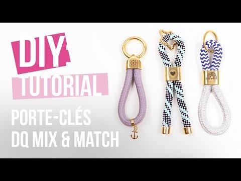 Bijoux à faire soi-même : Porte-clés DQ Mix & Match avec cordelette style marin ♡ DIY