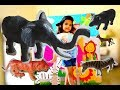 Learn Wild Zoo Animals Names and Sounds with Jungle Tent Safari| My Rockstar Animals
