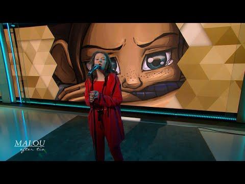 """Premiär för låten """"Bara Du Vill"""" med 13-åriga Beata Ernman - Malou Efter tio (TV4)"""