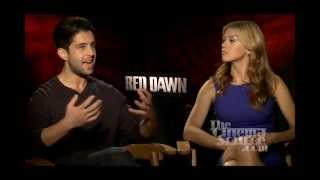 Adrianne Palicki and Josh Peck Interview for Red Dawn