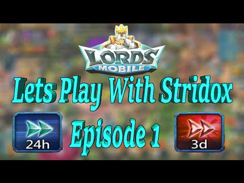 Lords Mobile Lets Play With Stridox Ep1 (Full Skill Tree Guide For Research And Construction Speed)
