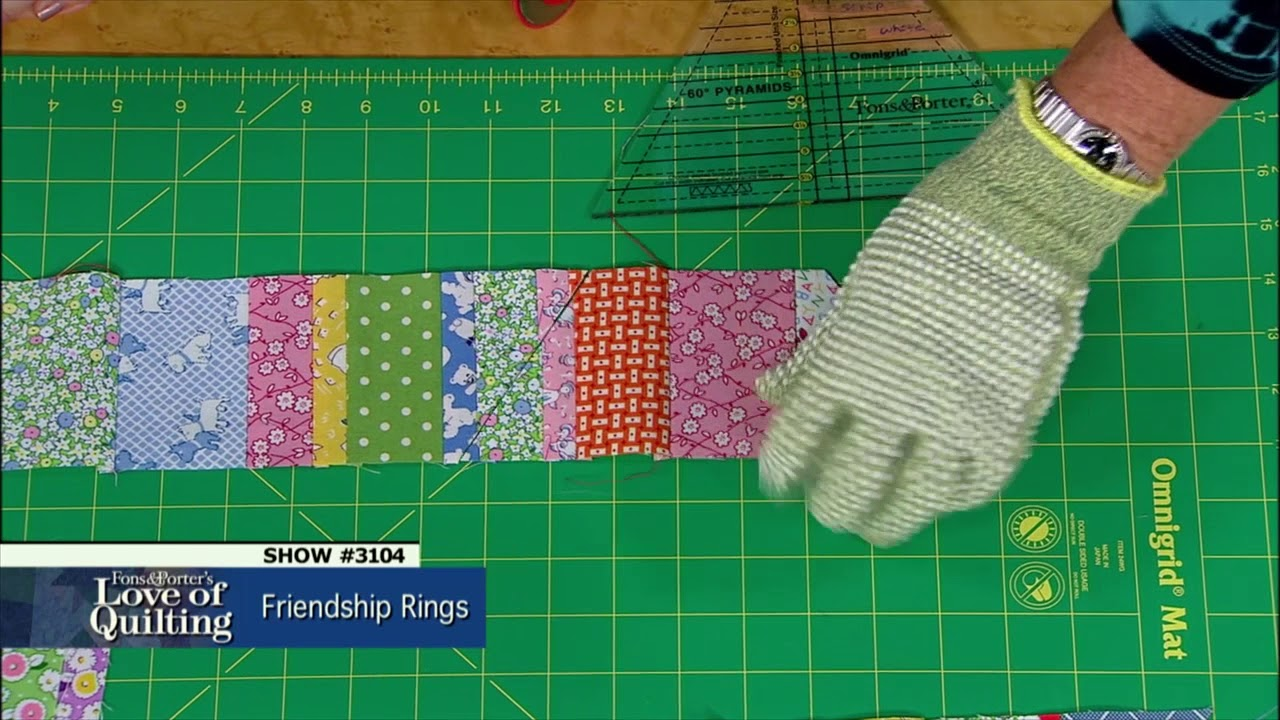 Love Of Quilting Preview Friendship Rings Strip Exchange Episode