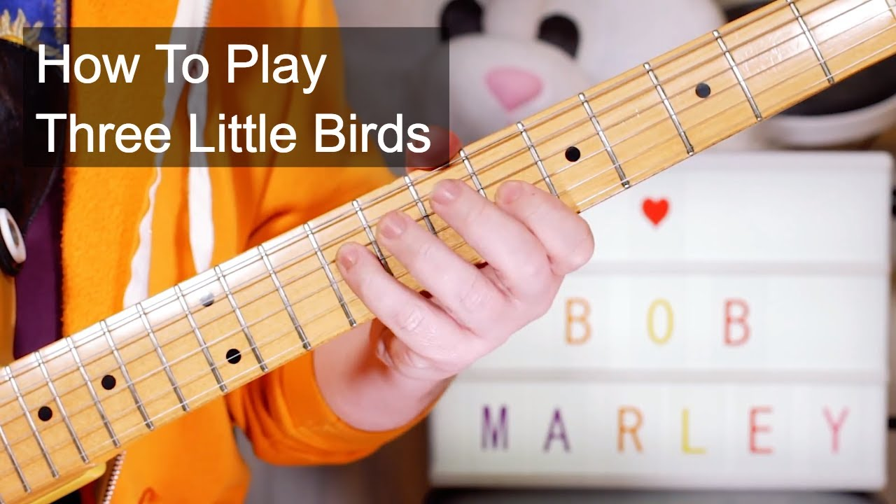 39 three little birds 39 bob marley acoustic electric guitar lesson youtube. Black Bedroom Furniture Sets. Home Design Ideas