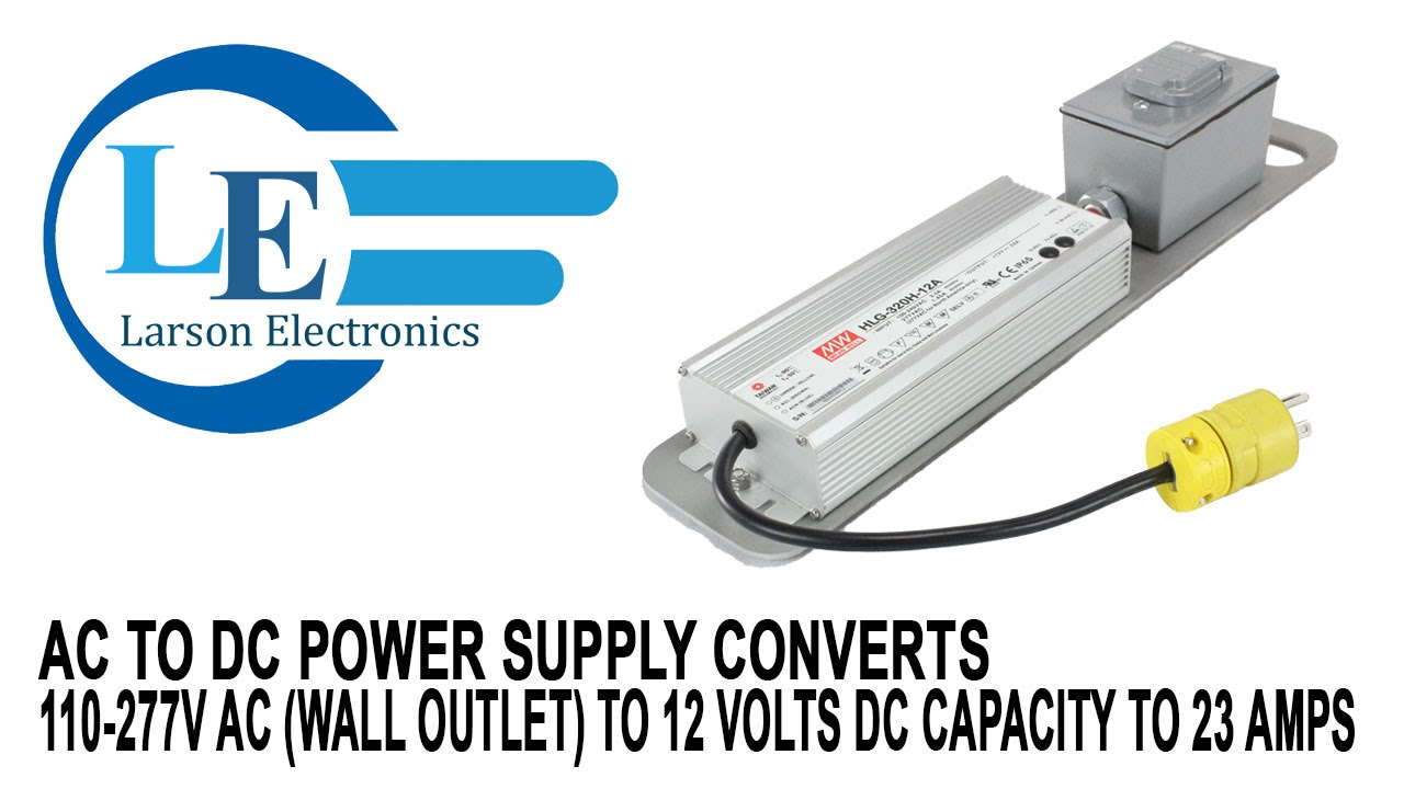 ac to dc power supply converts 110 277v ac wall outlet to 12 ac to dc power supply converts 110 277v ac wall outlet to 12 volts dc capacity to 23 amps