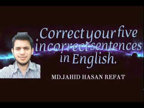 correct and incorrect sentences in english pdf