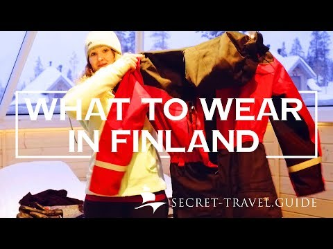 Lapland/Finland in winter what to wear - thermal clothing for extreme cold