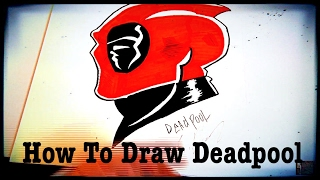 How to draw Deadpool