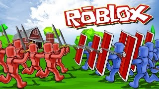 Roblox | TOTALLY ACCURATE BATTLE SIMULATOR - Tabs in Roblox! (Red vs Blue)
