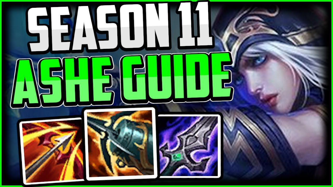 How To Play Ashe Bot Lane Hyper Carry Best Build Runes Ashe Adc Season 11 League Of Legends Youtube