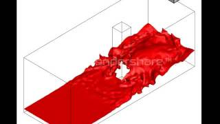 Dam Break And Resultant Free Surface Flow Around A Square Cylinder