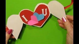 Что Подарить Маме,Учительнице (8 Марта,День Рождения, День Матери)Валентинка-Открытка Своими Руками
