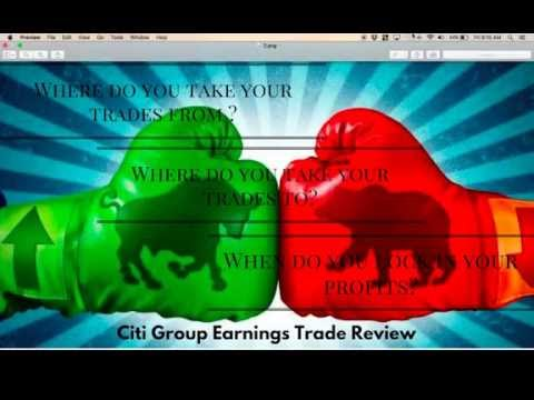 Citi Group (C) Earnings Trade Review