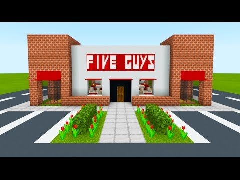 Minecraft Tutorial: How To Make A Five Guys Restaurant