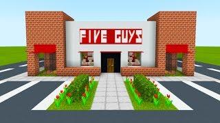 "Minecraft Tutorial: How To Make A Five Guys Restaurant ""2019 City Tutorial"""