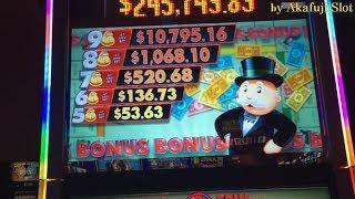 BIG WIN MONOPOLY MONEY Dollar Slot Machine Max Bet $5 Start Free Play $120 Casino, Akafujislot