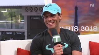 Rafael Nadal - Roland Garros Tennis Channel Desk Visit