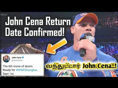 john cena return date confirm.!/World Wrestling Tamil thumbnail
