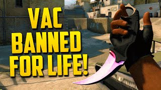 VAC BANNED! - CS:GO Funny Moments in Competitive thumbnail