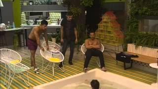 Charla de Hombres Fran Nico Mariano y Brian en el Yacuzzi Gran Hermano 2015