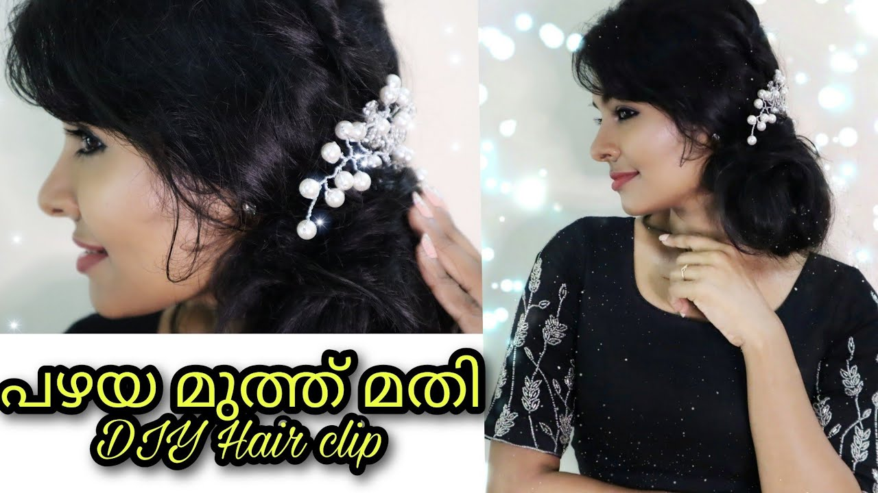 Easy DIY hair accessory|All you need is beads & wire|Recycle&Reuse|Easy bun hairstyle|Asvi Malayalam