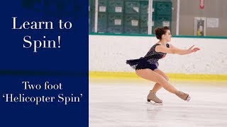 Learn to Spin on Ice Skates!  Beginner Figure Skating Spinning Lesson