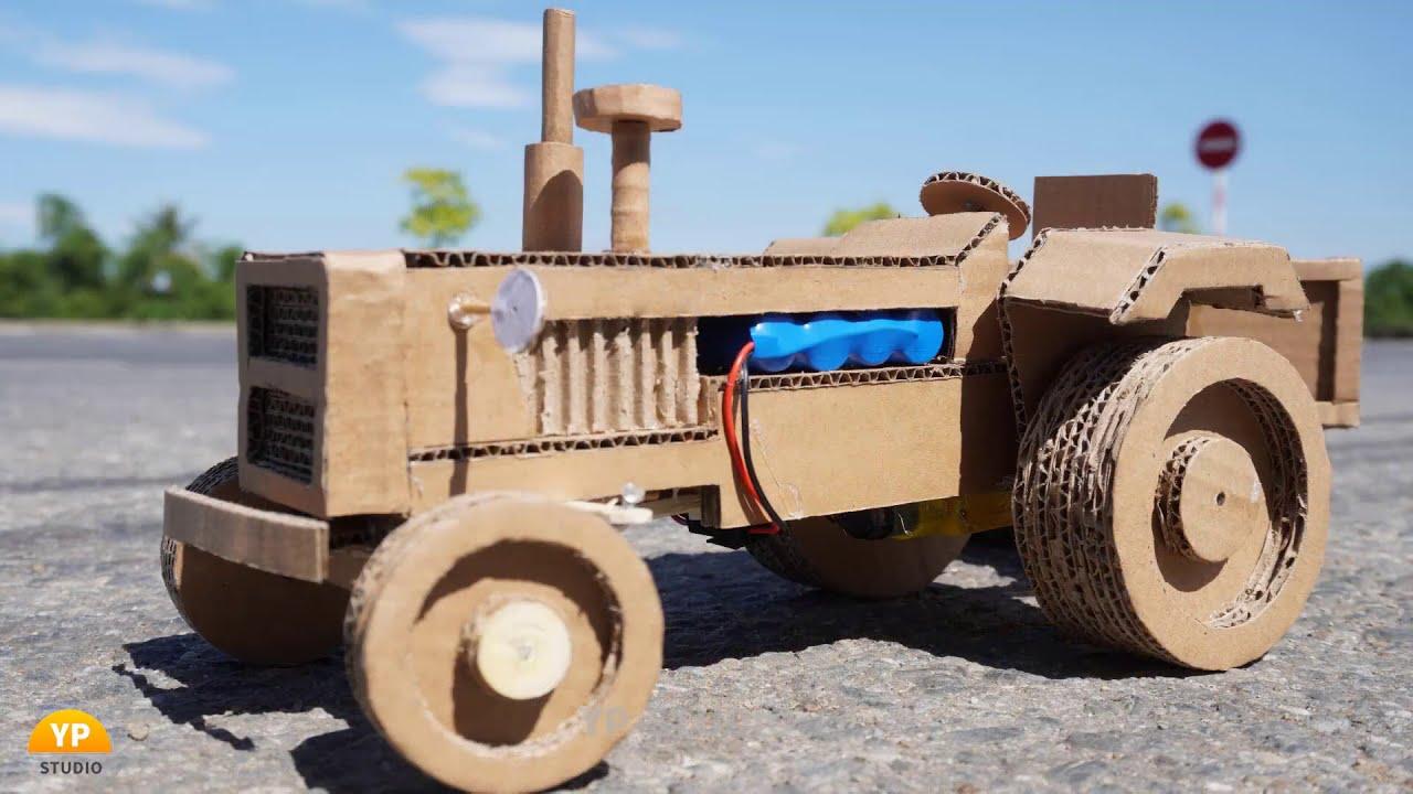 DIY RC Tractor from Cardboard - Easy Cardboard Crafts