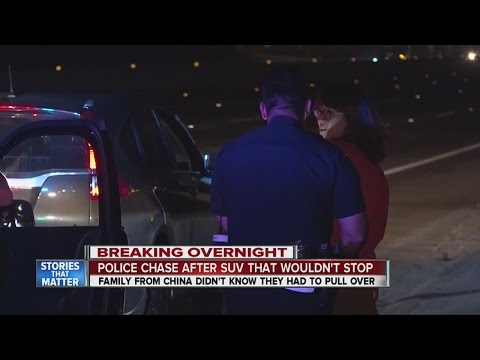 Confused Chinese tourists lead police on freeway chase