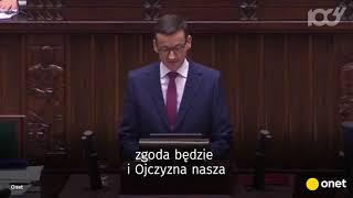 Morawiecki w expose zalał posłów cytatami | Onet100