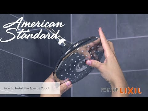 How To Install The Spectra Touch Shower Head