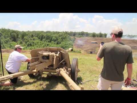 Выстрел из противотанковой пушки PAK 40