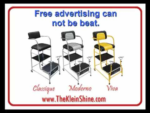 Shoe Shine Chairs for Sale - YouTube