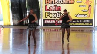 Nola (Pro) & Minna (Am) - A Touch of Salsa - ProAm Latin Solo Duet - Salsa Solo 2014 - Saturday