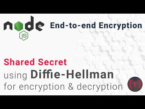 Diffie Hellman | NodeJS | End-to-end Encryption